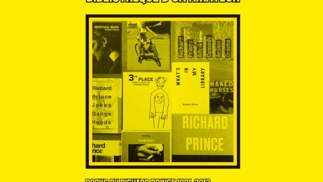 bibliotequhe d'un amateur / Richard Prince's books