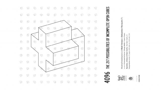 Istanza Contemporanea_3 / 218/4096 the 218 possibilities of incomplete open cubes