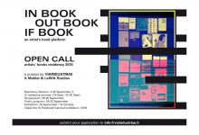 OPEN CALL // INbookOUTbookIFbook // Artist's Books Residency 2018