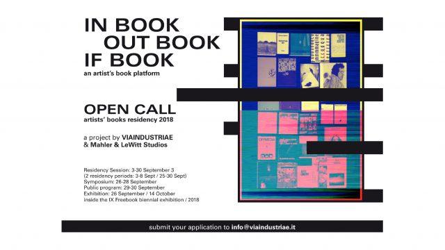 OPEN CALL // INbookOUTbookIFbook // Artist's Books Residency 2018