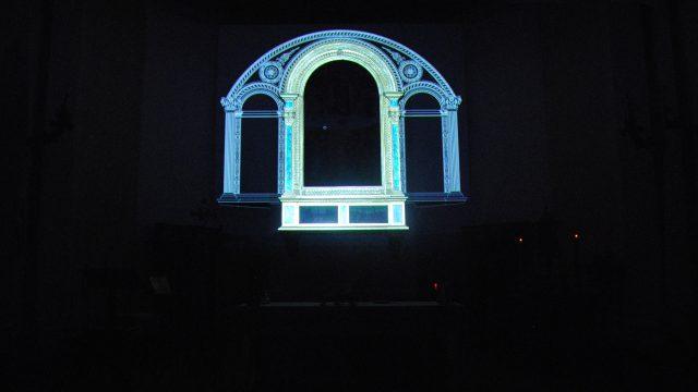 """Ricostruzione virtuale della """"macchina d'altare"""" e video-mapping  per la Pala dell'Assunta del Perugino"""