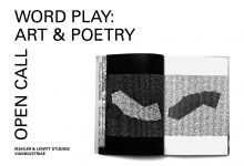 WORD PLAY: Art & Poetry / Call for application